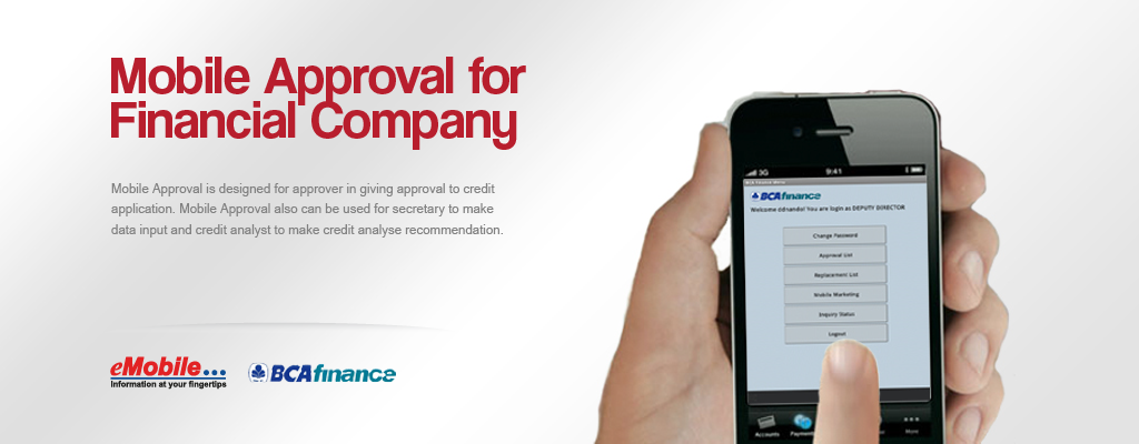 PT. eMobile Indonesia - MA, Mobile Approval for Financial Company